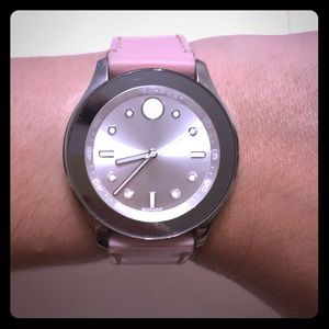 Movado Bold beautiful pink ladies watch!